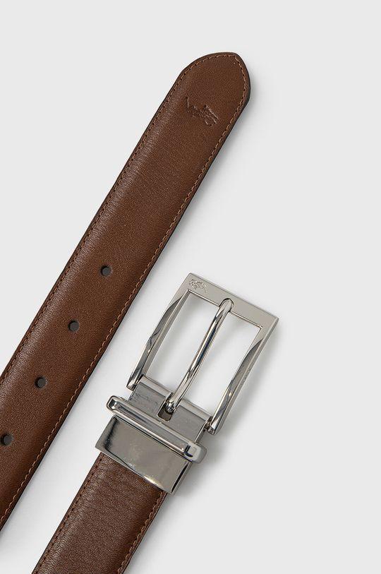 Polo Ralph Lauren - Pasek skórzany dwustronny brązowy
