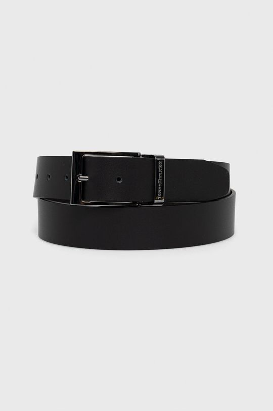 černá Tommy Hilfiger - Oboustranný kožený pásek Pánský