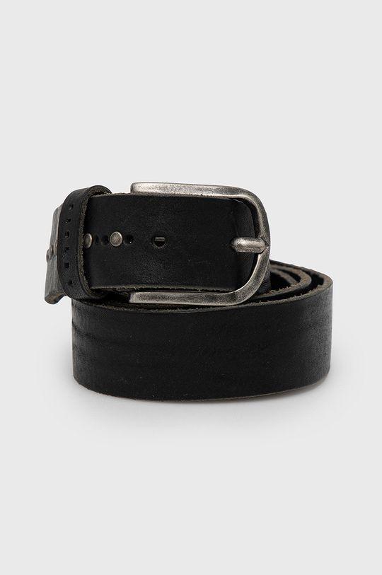 černá Sisley - Kožený pásek Pánský