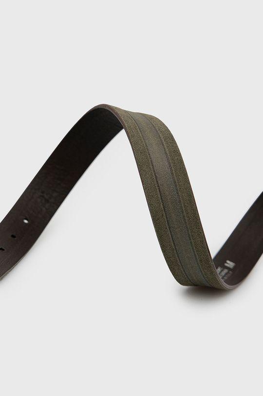 Sisley - Kožený pásek olivová