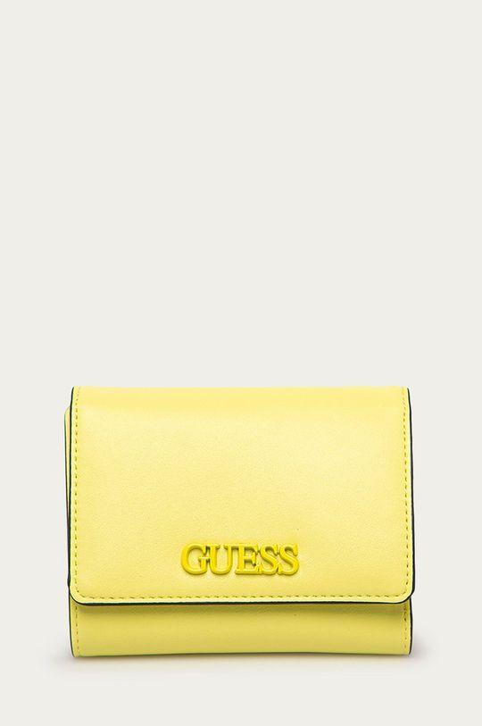 žlto-zelená Guess - Peňaženka Dámsky