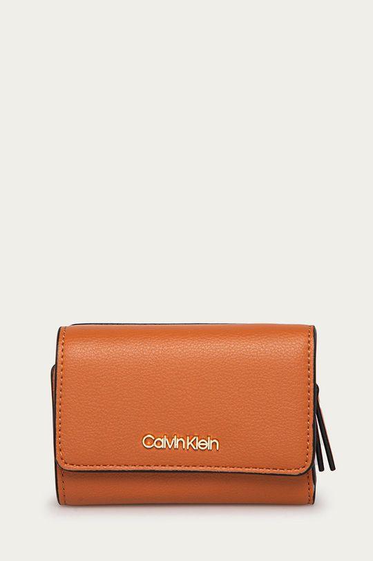 złoty brąz Calvin Klein - Portfel Damski