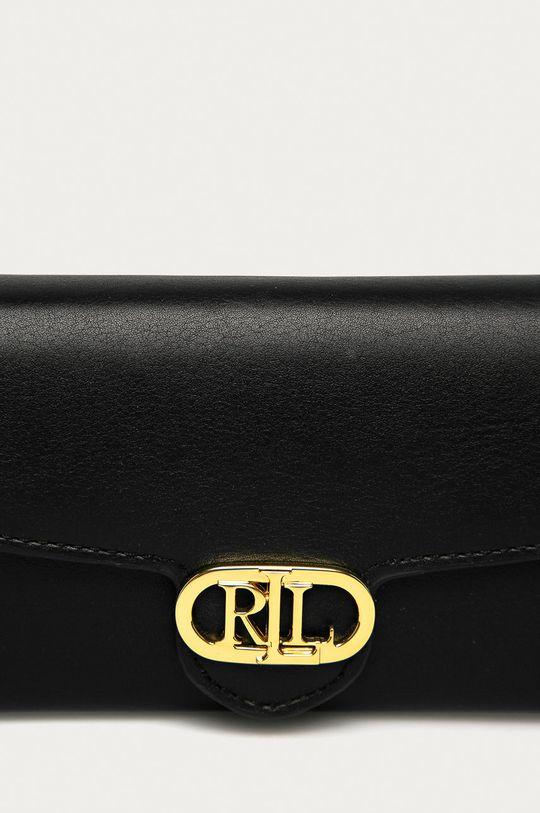 Lauren Ralph Lauren - Kožená peňaženka čierna