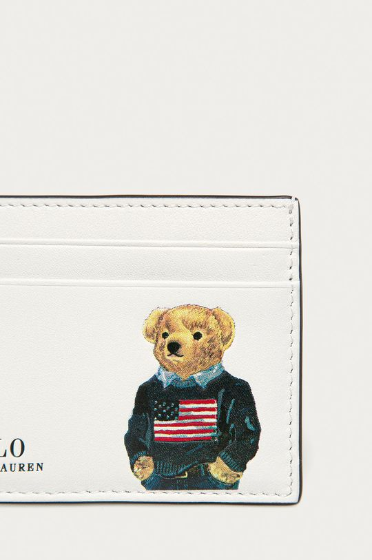 Polo Ralph Lauren - Kožená peněženka bílá