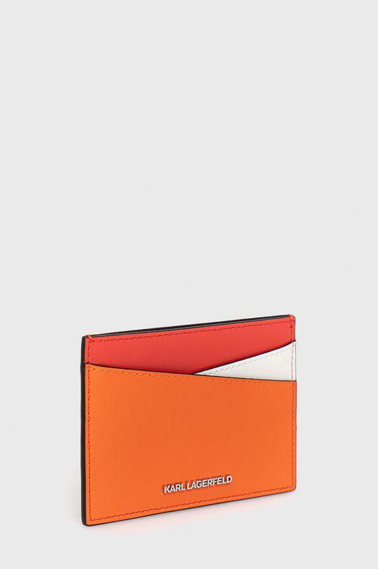 Karl Lagerfeld - Kožená peněženka červená