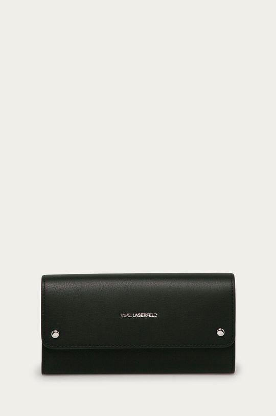 černá Karl Lagerfeld - Kožená peněženka Dámský