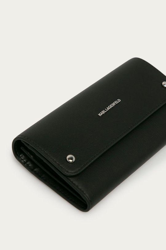 Karl Lagerfeld - Kožená peněženka černá
