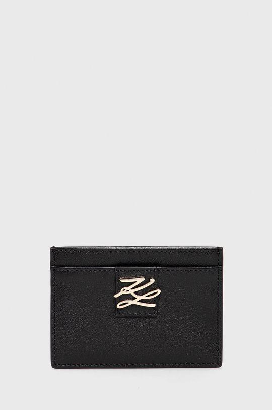 čierna Karl Lagerfeld - Kožená peňaženka Dámsky