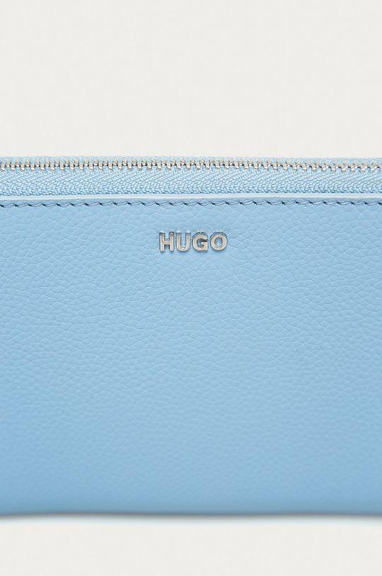 Hugo - Portfel skórzany jasny niebieski