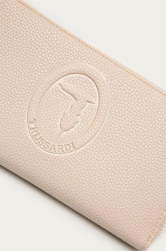 Trussardi Jeans - Portfel skórzany kremowy