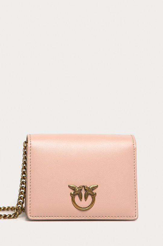 ružovo-červená Pinko - Kožená peňaženka Dámsky