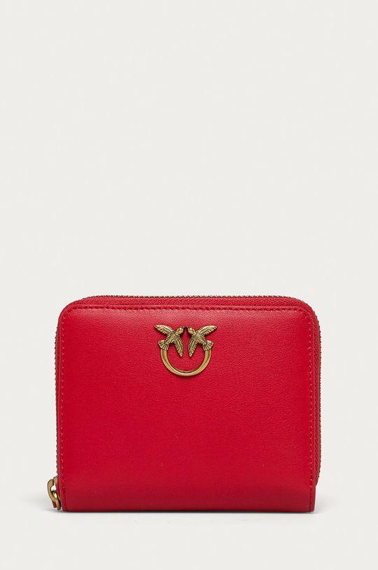 červená Pinko - Kožená peňaženka Dámsky