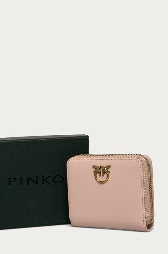 ružovo-červená Pinko - Kožená peňaženka