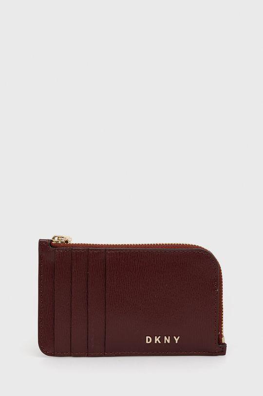kaštanová Dkny - Kožená peněženka Dámský