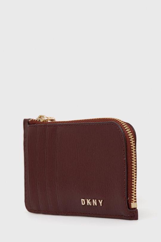 Dkny - Kožená peněženka kaštanová