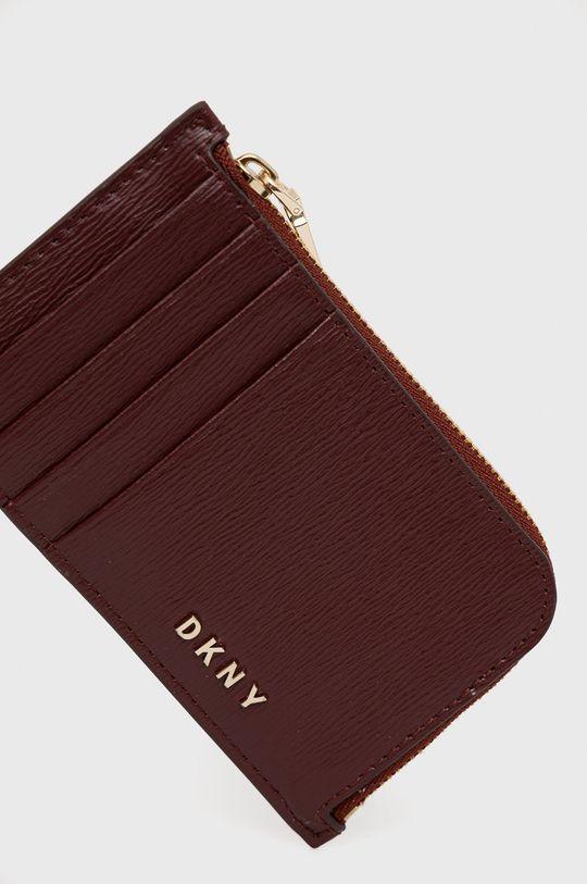 kaštanová Dkny - Kožená peněženka