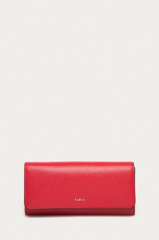 červená Furla - Kožená peněženka Babylon Dámský