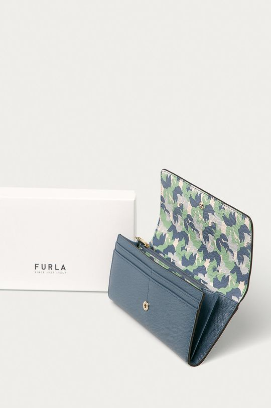 modrá Furla - Kožená peněženka Babylon