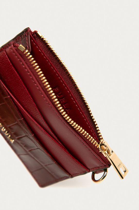 Furla - Kožená peněženka Armonia kaštanová