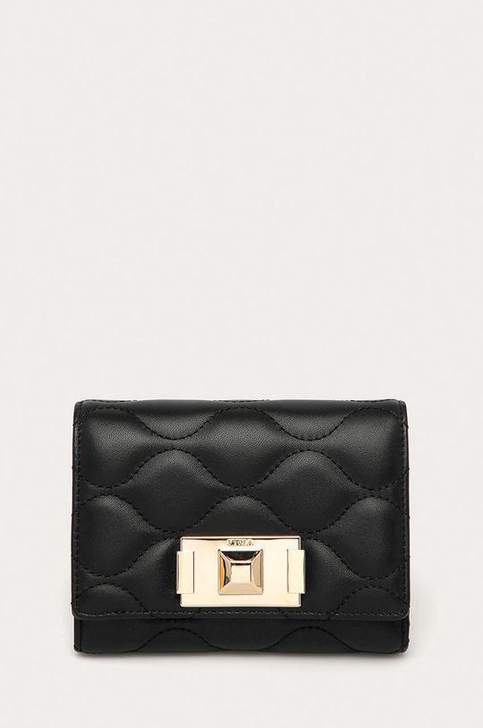 černá Furla - Kožená peněženka Mimi Dámský