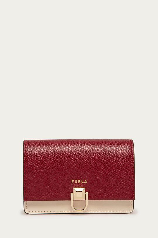 tmavě fialová Furla - Kožená peněženka Miss Mimi Dámský