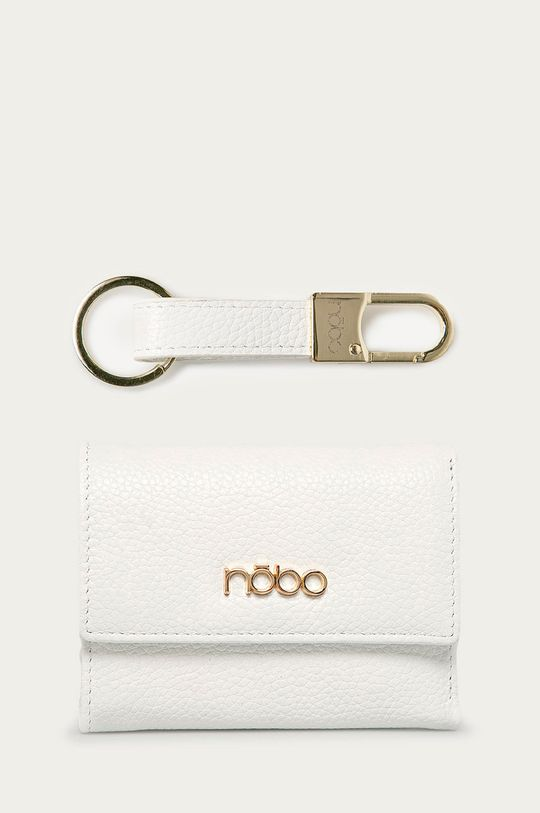 biały Nobo - Portfel skórzany + brelok Damski