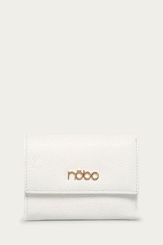 Nobo - Portfel skórzany + brelok biały