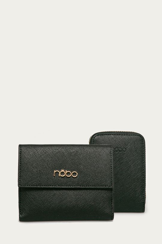 čierna Nobo - Kožená peňaženka (2-pak) Dámsky