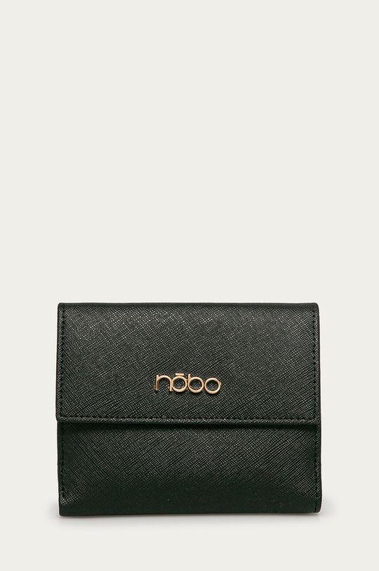 Nobo - Kožená peňaženka (2-pak) čierna