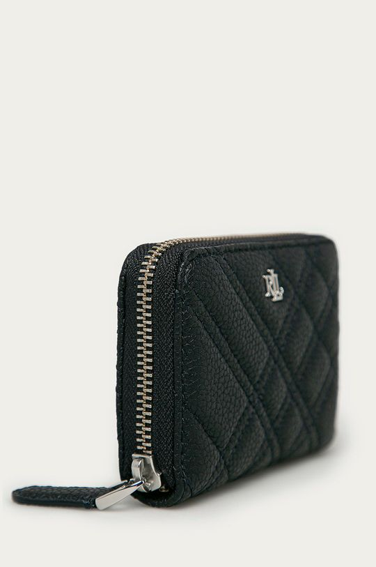 Lauren Ralph Lauren - Kožená peňaženka tmavomodrá