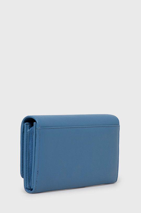 Pepe Jeans - Portfel skórzany niebieski
