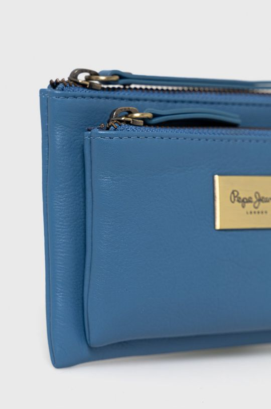 Pepe Jeans - Portfel skórzany Blue niebieski