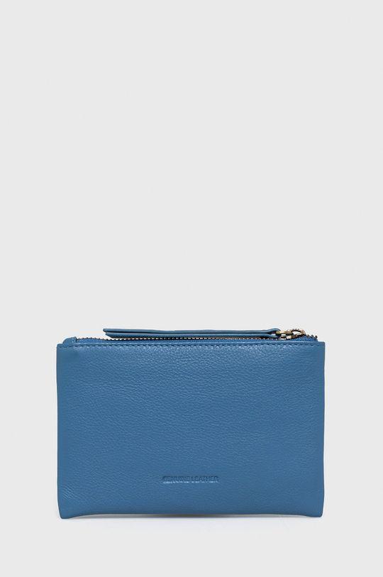 Pepe Jeans - Portfel skórzany Blue 100 % Skóra naturalna