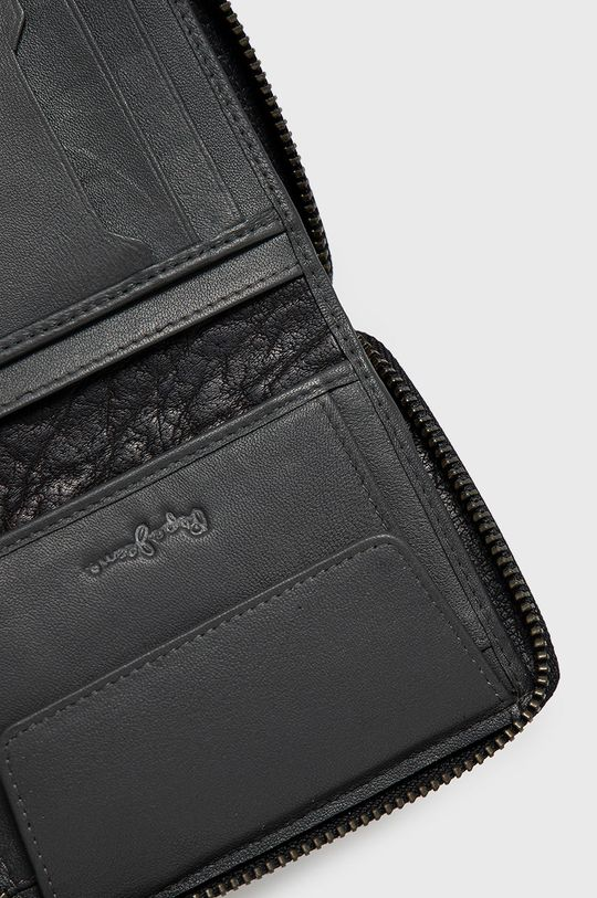 Pepe Jeans - Portfel skórzany 100 % Skóra naturalna