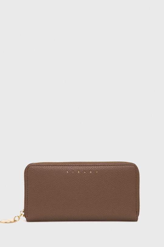 brązowy Sisley - Portfel Damski