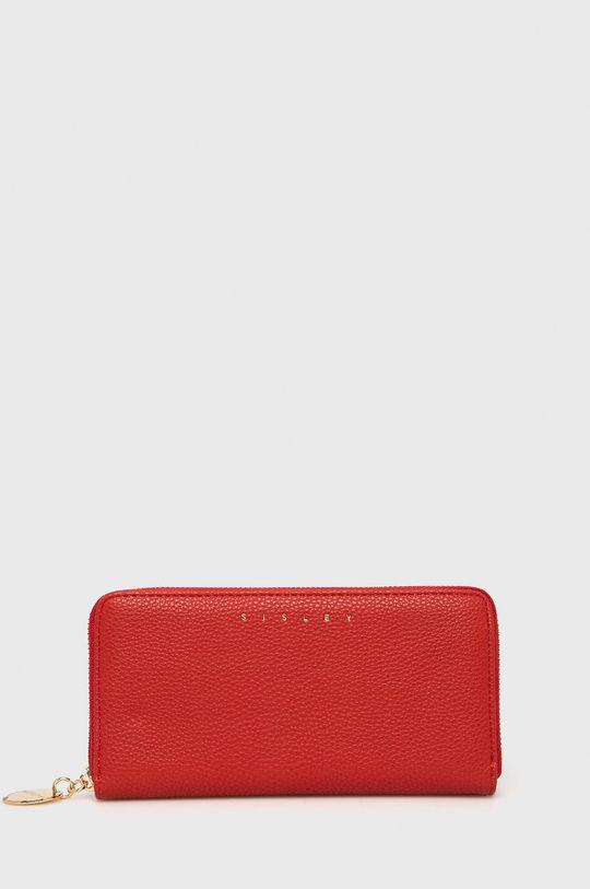 czerwony Sisley - Portfel Damski