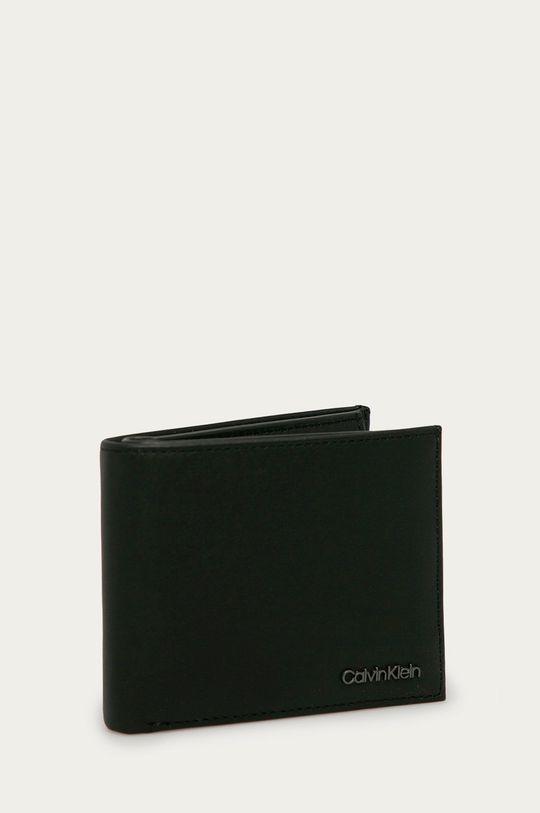 Calvin Klein - Kožená peněženka černá