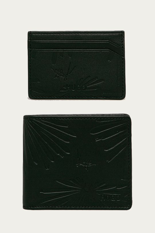 čierna Hugo - Peňaženka a puzdro na karty Pánsky