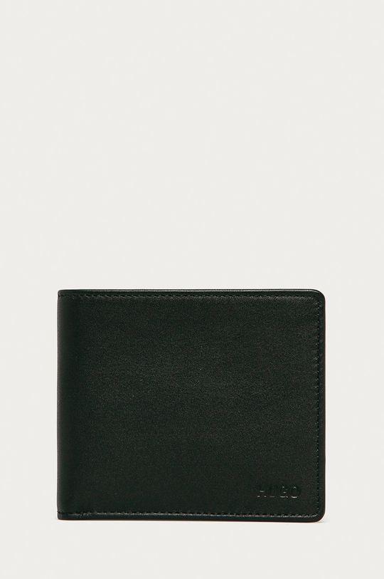 čierna Hugo - Kožená peňaženka Pánsky