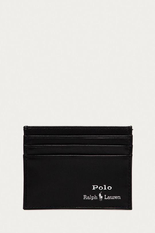 czarny Polo Ralph Lauren - Portfel skórzany Męski