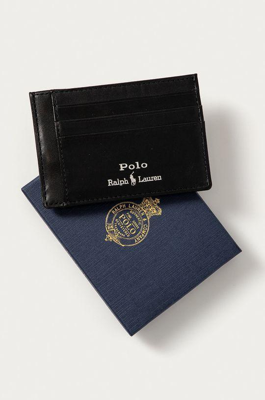 czarny Polo Ralph Lauren - Portfel skórzany