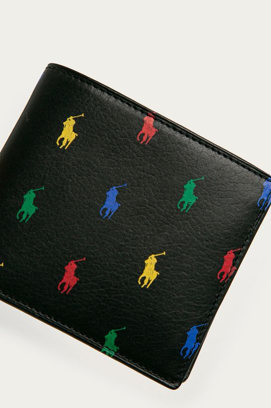 Polo Ralph Lauren - Kožená peněženka černá