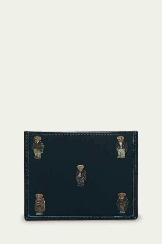 granatowy Polo Ralph Lauren - Portfel skórzany Męski