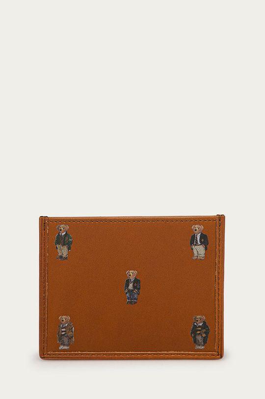 brązowy Polo Ralph Lauren - Portfel skórzany Męski
