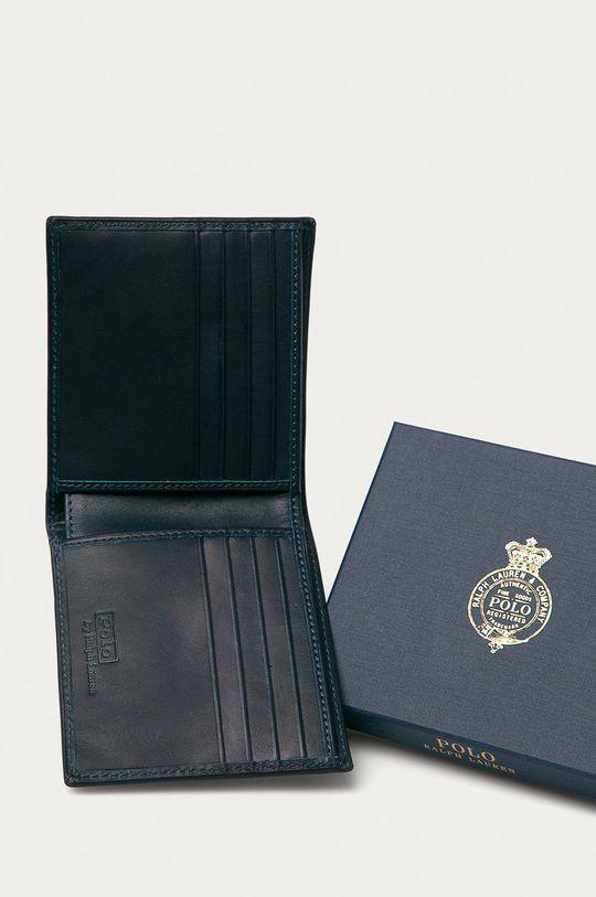 Polo Ralph Lauren - Kožená peněženka námořnická modř