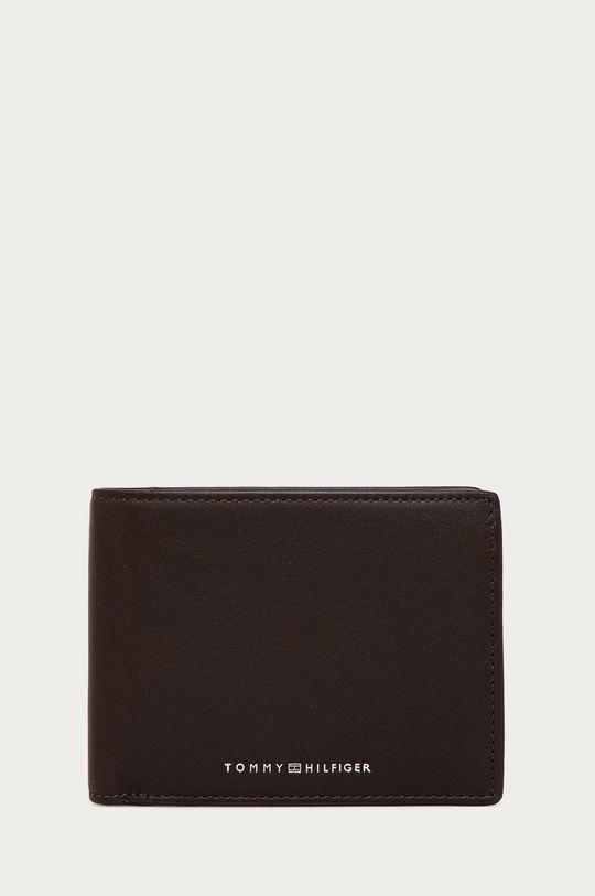 tmavě hnědá Tommy Hilfiger - Kožená peněženka Pánský
