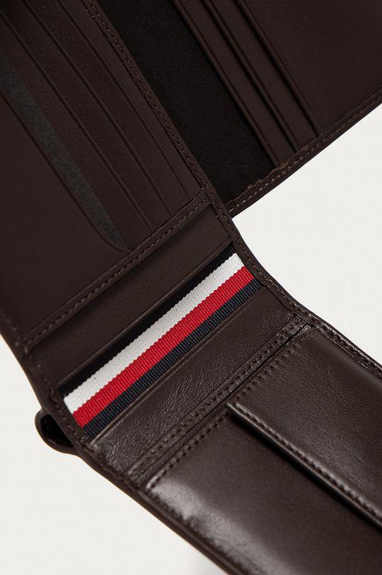 Tommy Hilfiger - Kožená peněženka tmavě hnědá