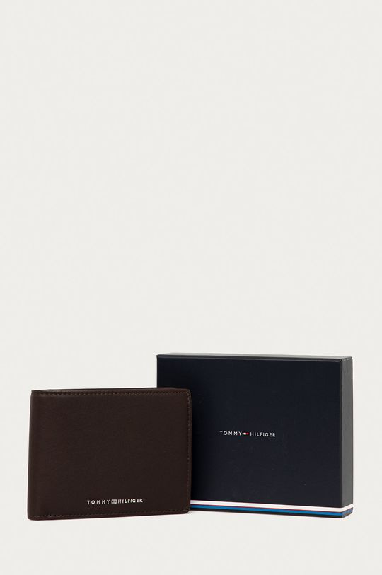 tmavě hnědá Tommy Hilfiger - Kožená peněženka