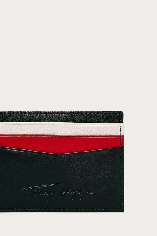 Tommy Hilfiger - Kožená peňaženka tmavomodrá