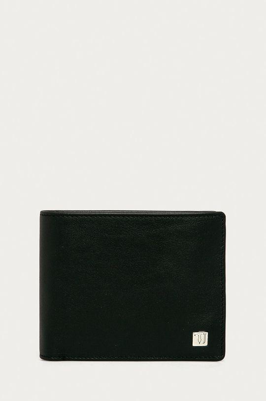 čierna Trussardi Jeans - Kožená peňaženka Pánsky